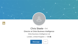 Christopher Steele's LinkedIn page