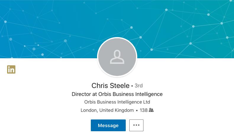 Christopher Steele's LinkedIn page