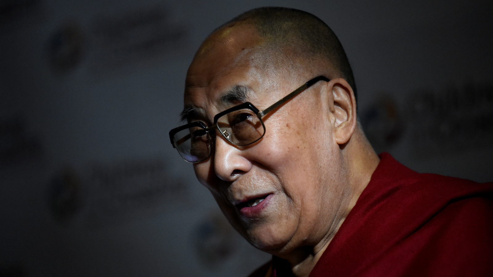 Tibetan spiritual leader the Dalai Lama, Patron of Children in Crossfire, speaks during a press conference in Londonderry, Northern Ireland September 11, 2017.