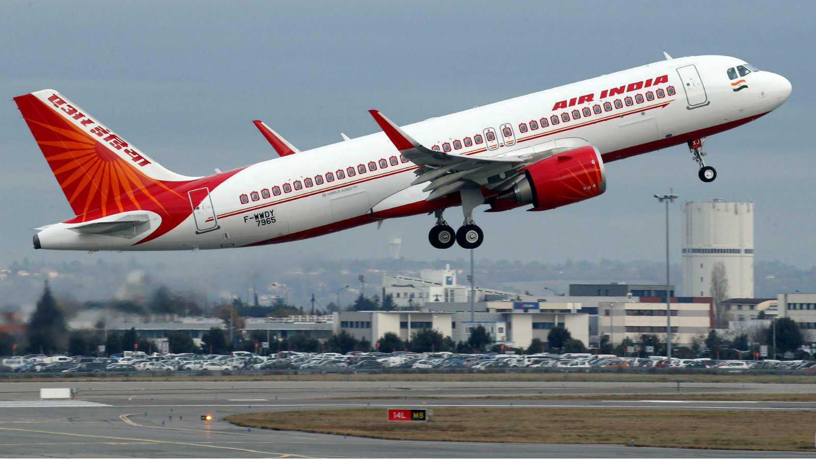 An Air India Airbus A320neo plane takes off from Colomiers near Toulouse, France in December 2017.