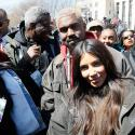 WASHINGTON, DC - MARCH 24: Kanye West and Kim Kardashian West attend March For Our Lives on March 24, 2018 in Washington, DC. (Photo by Paul Morigi/Getty Images for March For Our Lives)