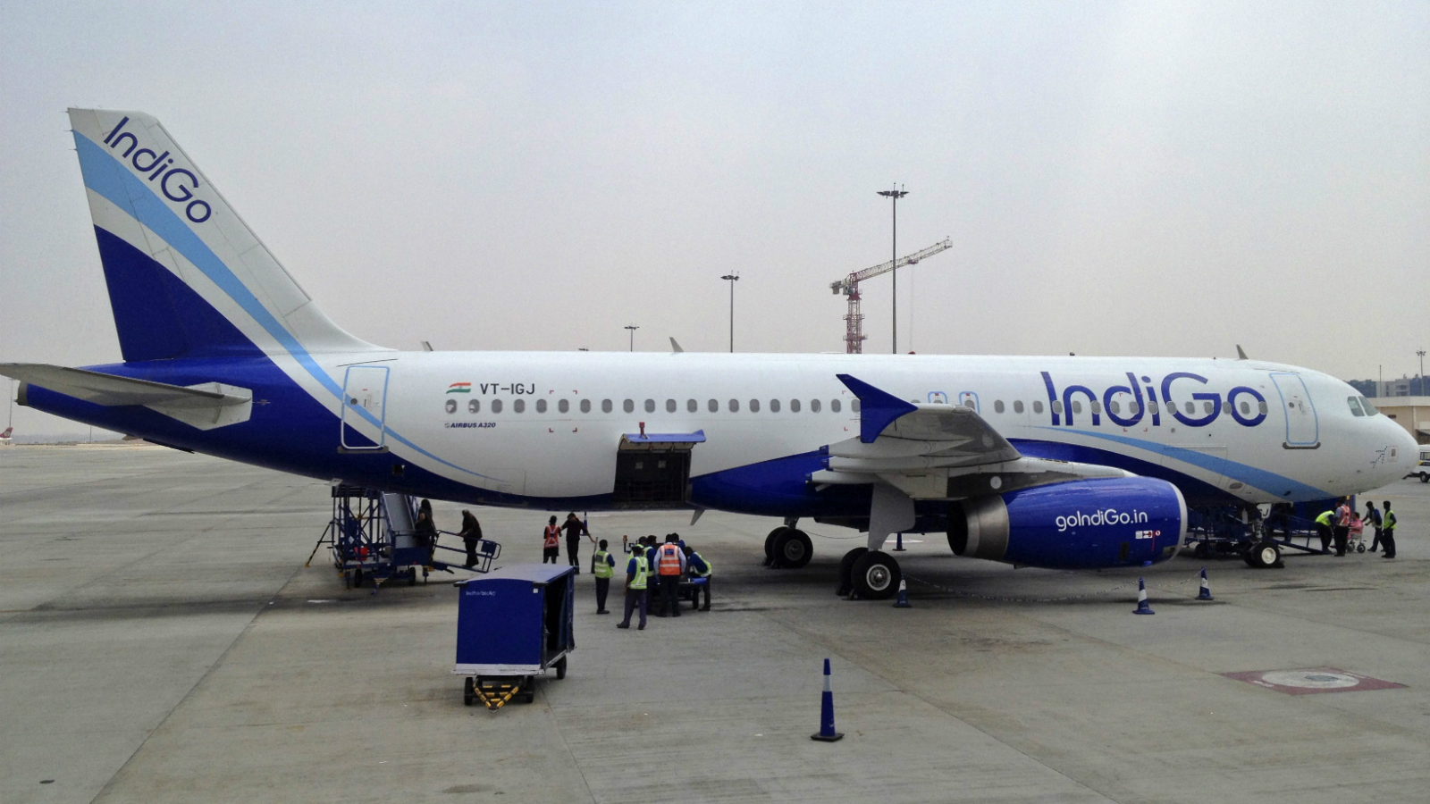An IndiGo Airlines A320 aircraft is parked on the tarmac at Bengaluru International Airport in Bangalore March 7, 2012.