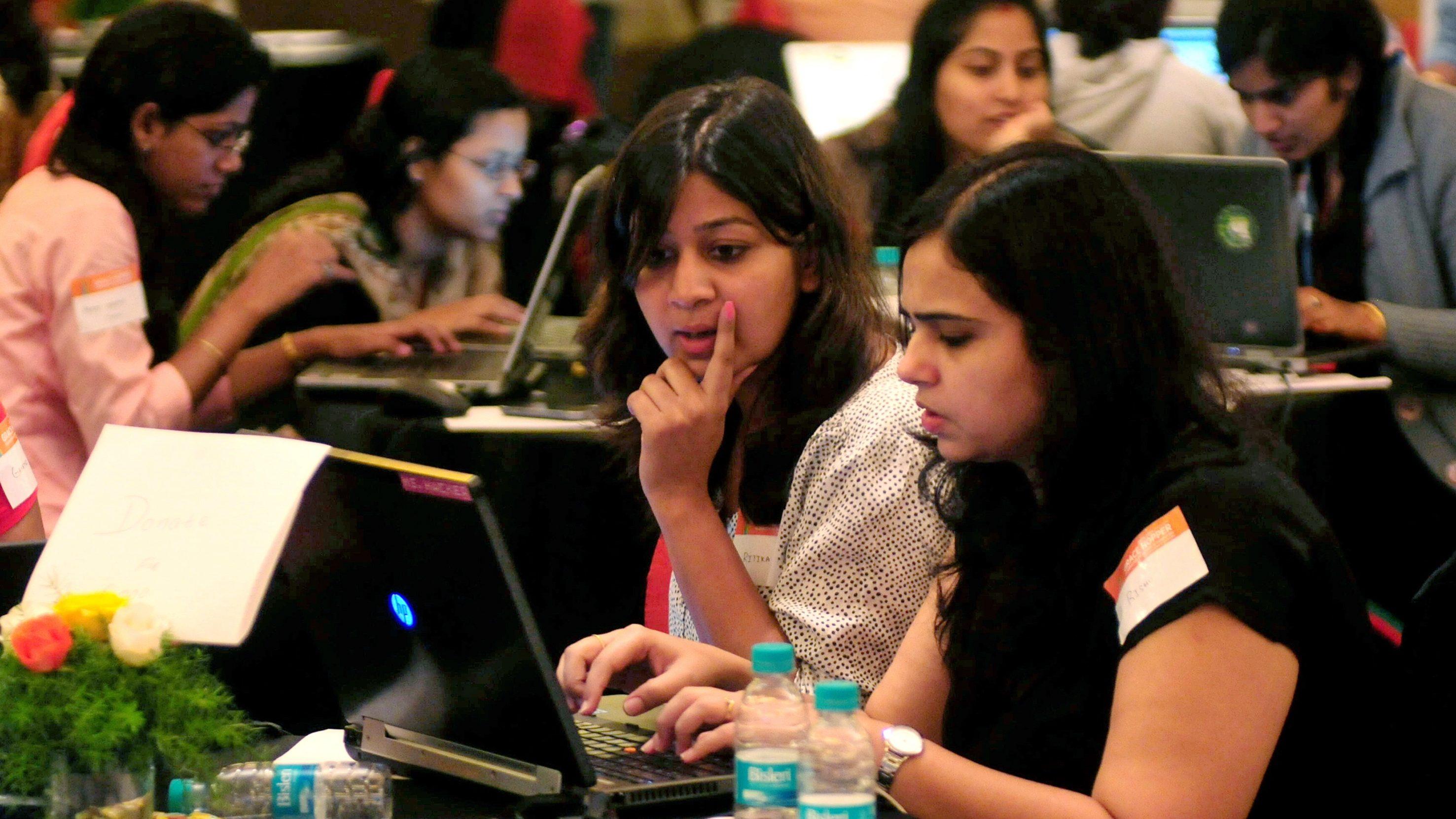 Indian women participate in Hackathon