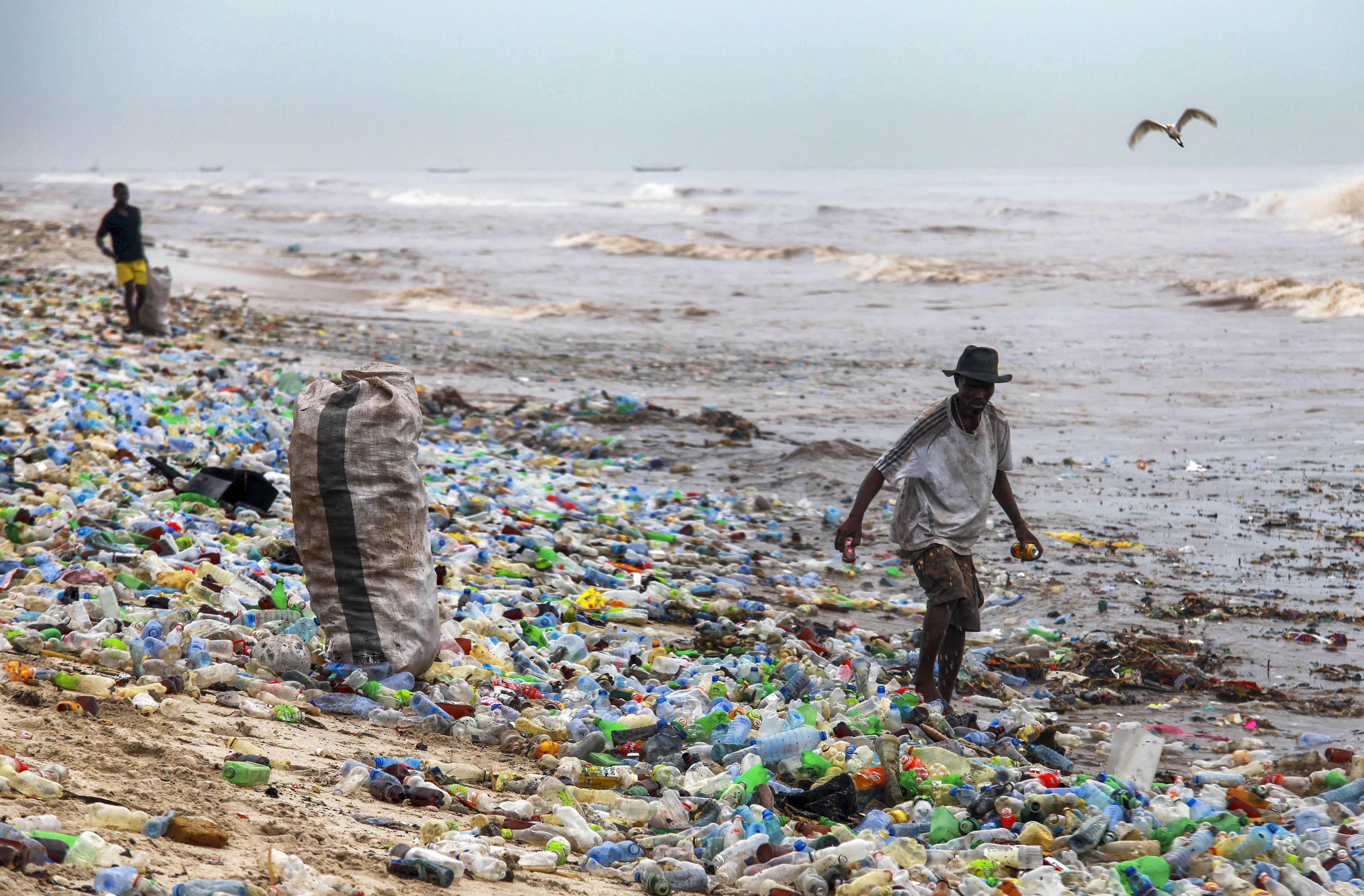 Plastic waste in Accra