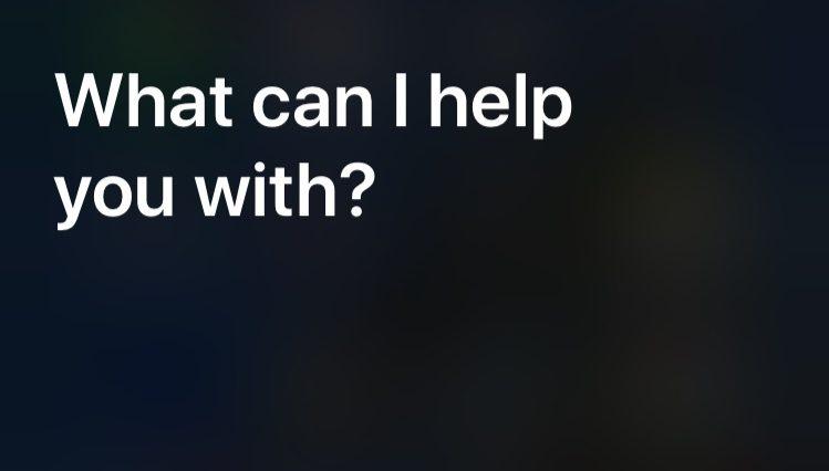 A screenshot of Siri.