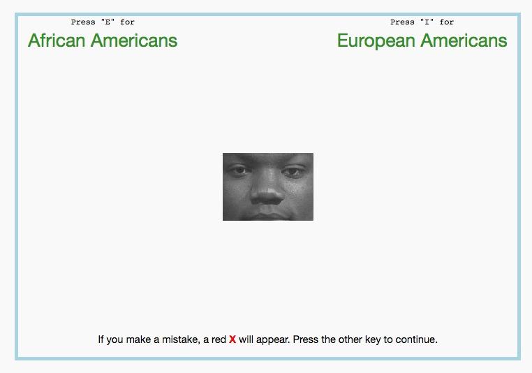 Implicit Association Test screenshot