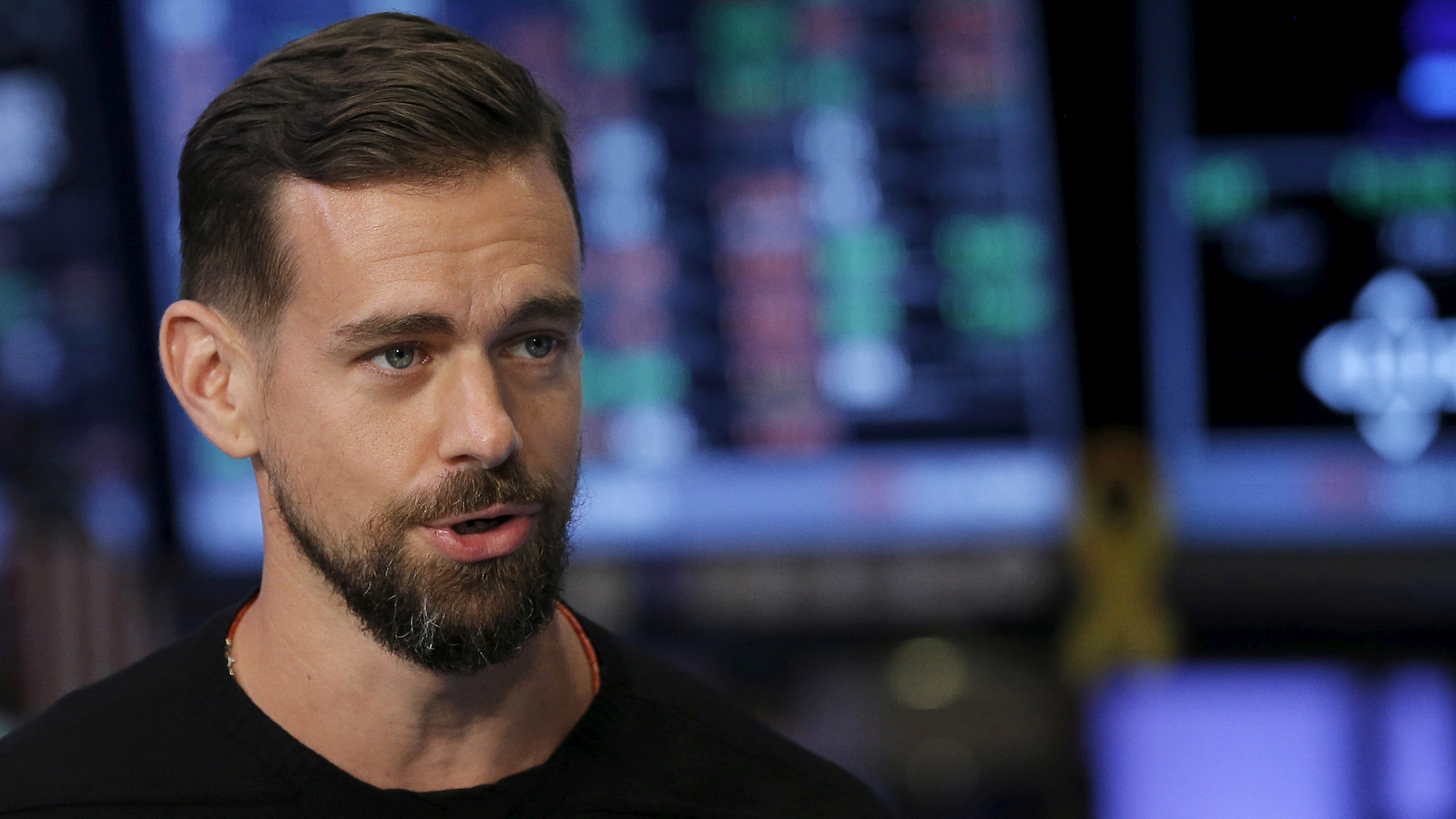 Jack Dorsey, CEO of Square and CEO of Twitter, speaks during an interview November 19, 2015. REUTERS/Lucas Jackson/Files - S1AETQMEWKAB