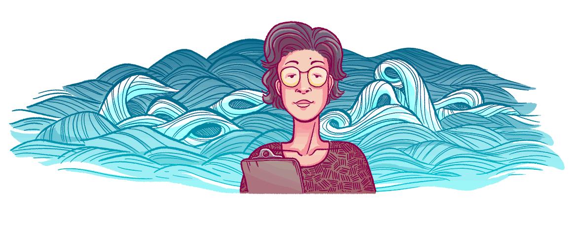Katsuko Saruhashi's Google doodle.