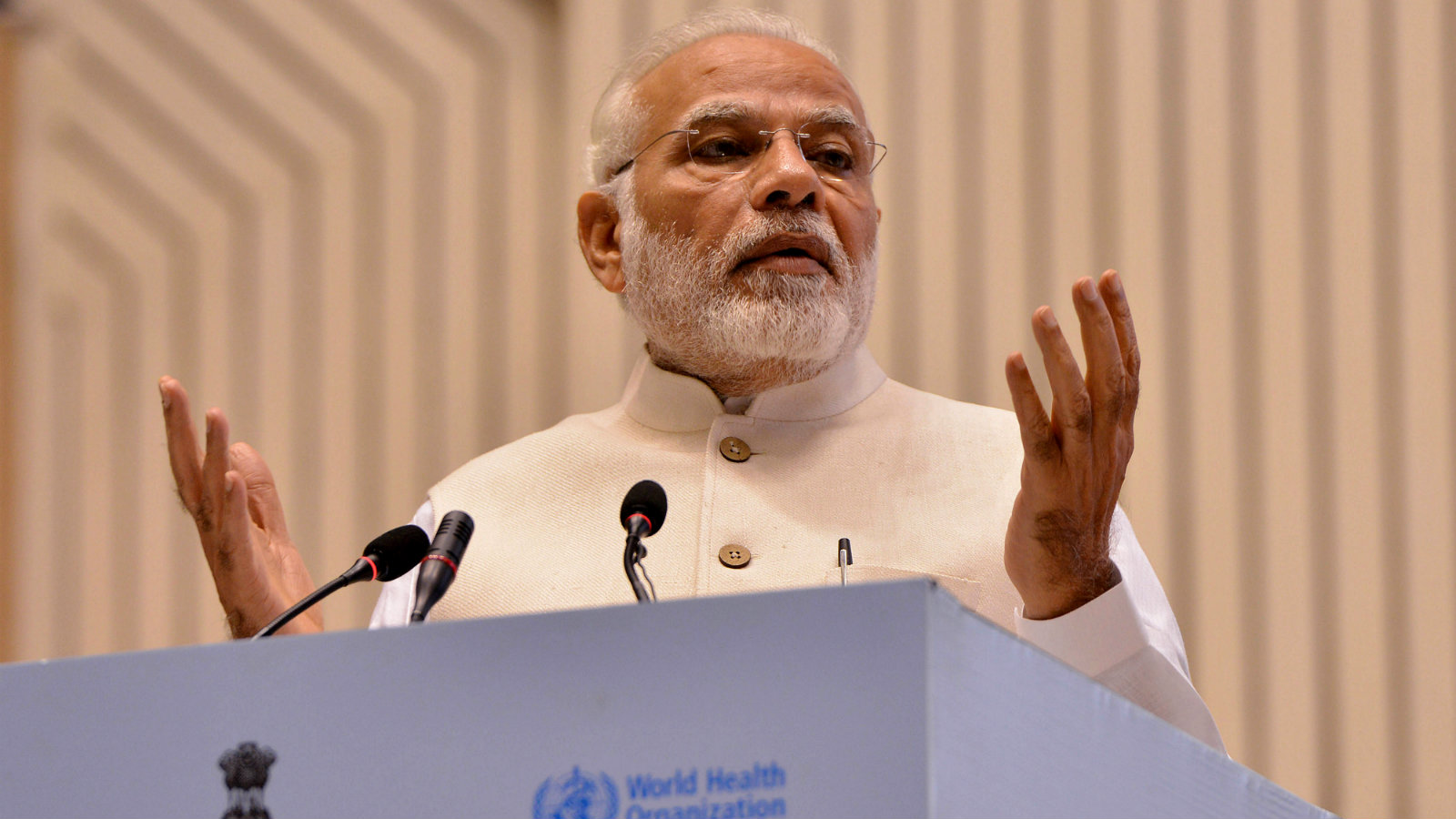 Indian Prime Minister Narendra Modi speaks during the inauguration of the End tuberculosis (TB) Summit, in New Delhi, India 13 March 2018. Prime minister Modi announced that India has set the aim to eradicate TB from India by 2025, a news reports said.