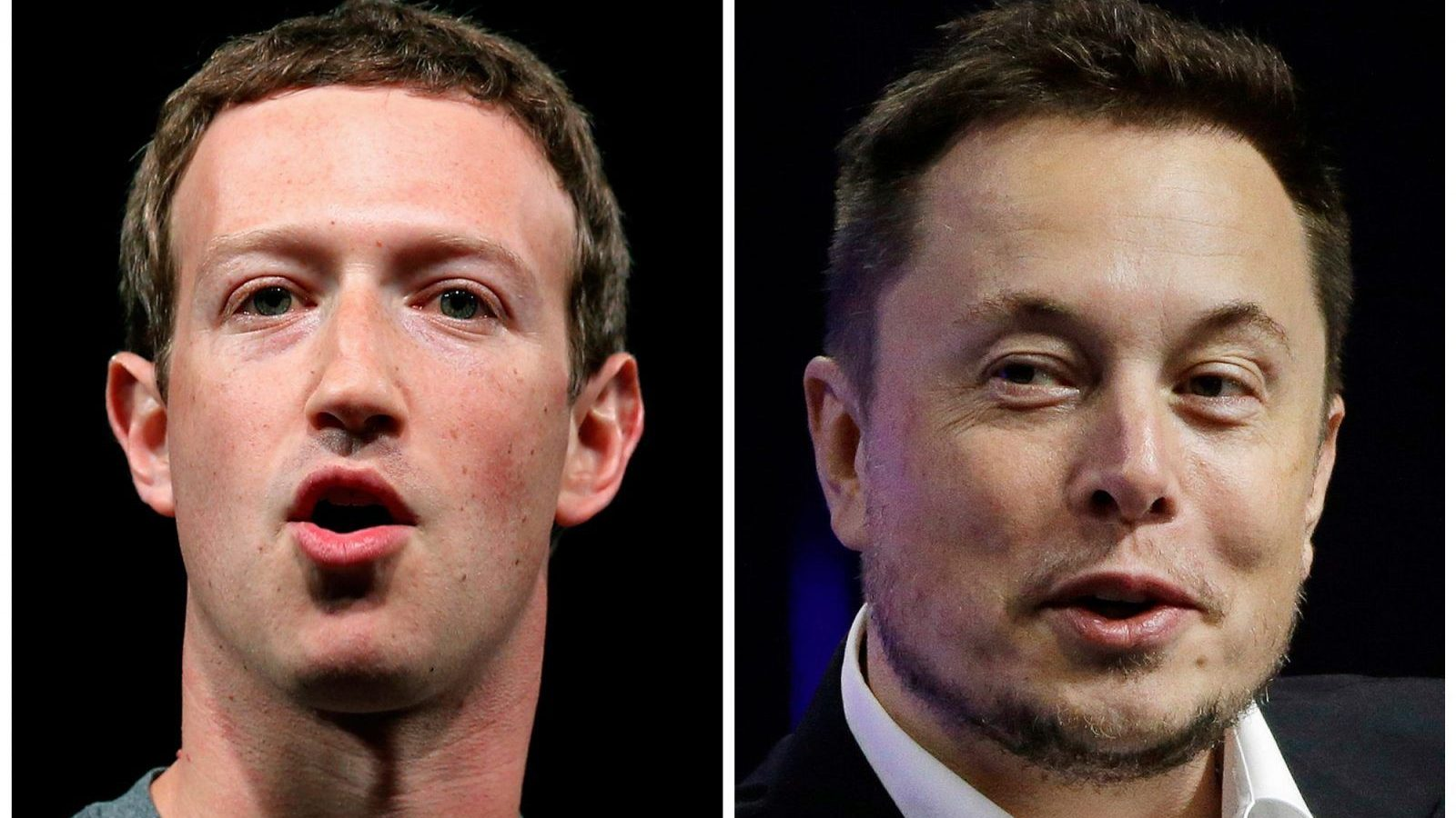 This combo of file images shows Facebook CEO Mark Zuckerberg, left, and Tesla and SpaceX CEO Elon Musk. An online smackdown between tech titans Zuckerberg and Musk over the possible threat of artificial intelligence underlines how little most people know about the rapidly advancing technology.