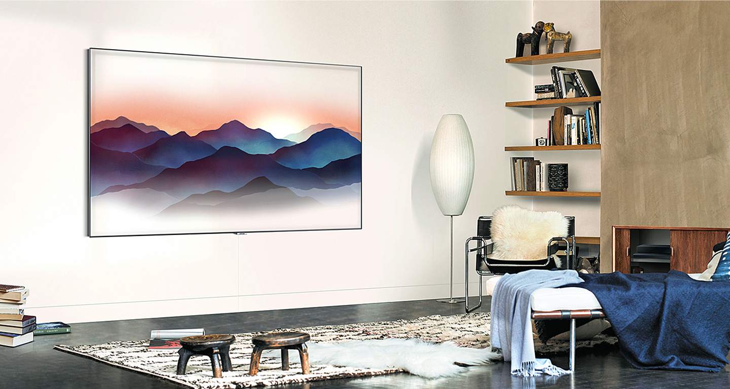 Samsung\'s new QLED TVs appear almost invisible with Ambient Mode ...