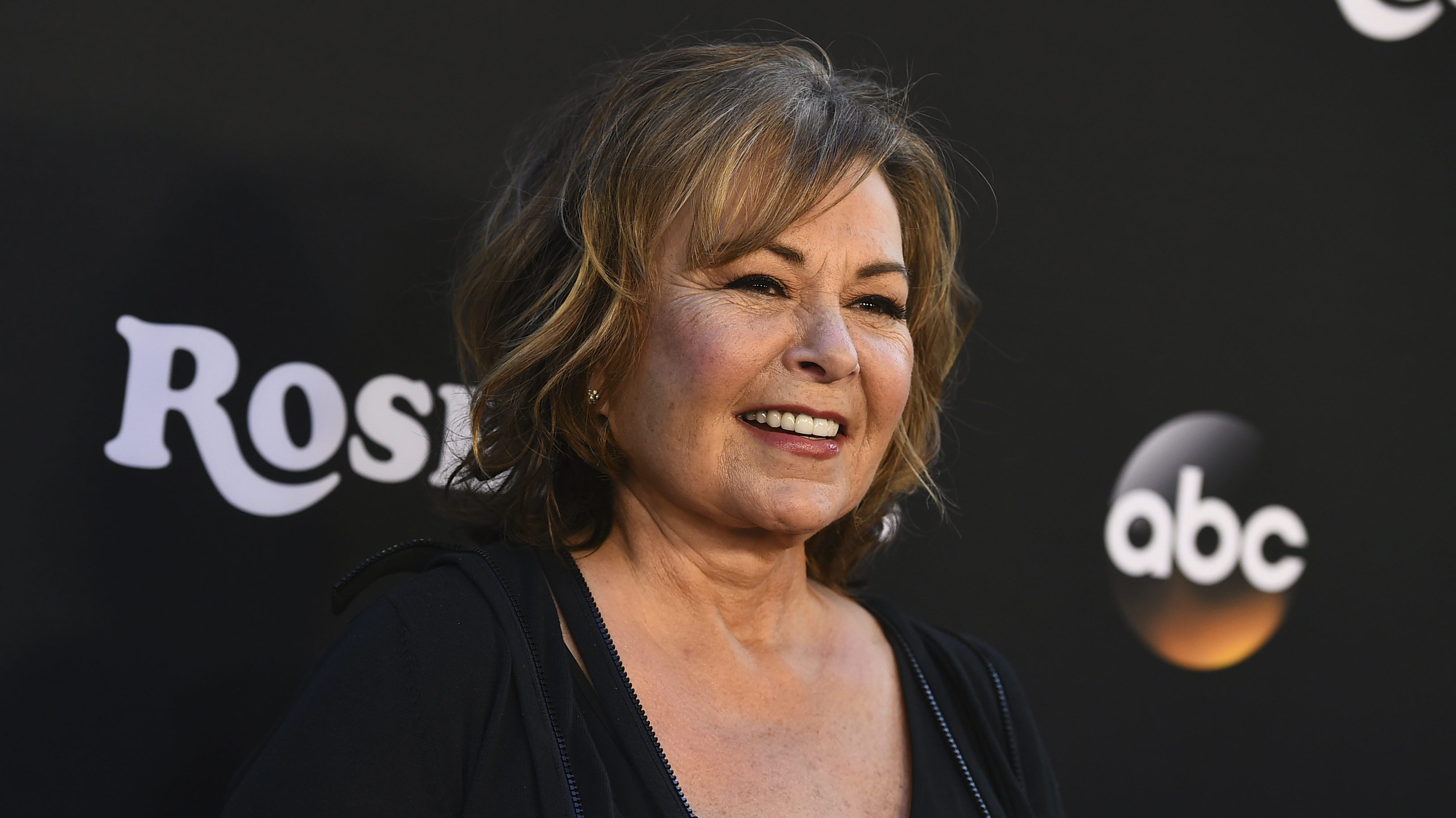 The actress Roseanne Barr at a premier.