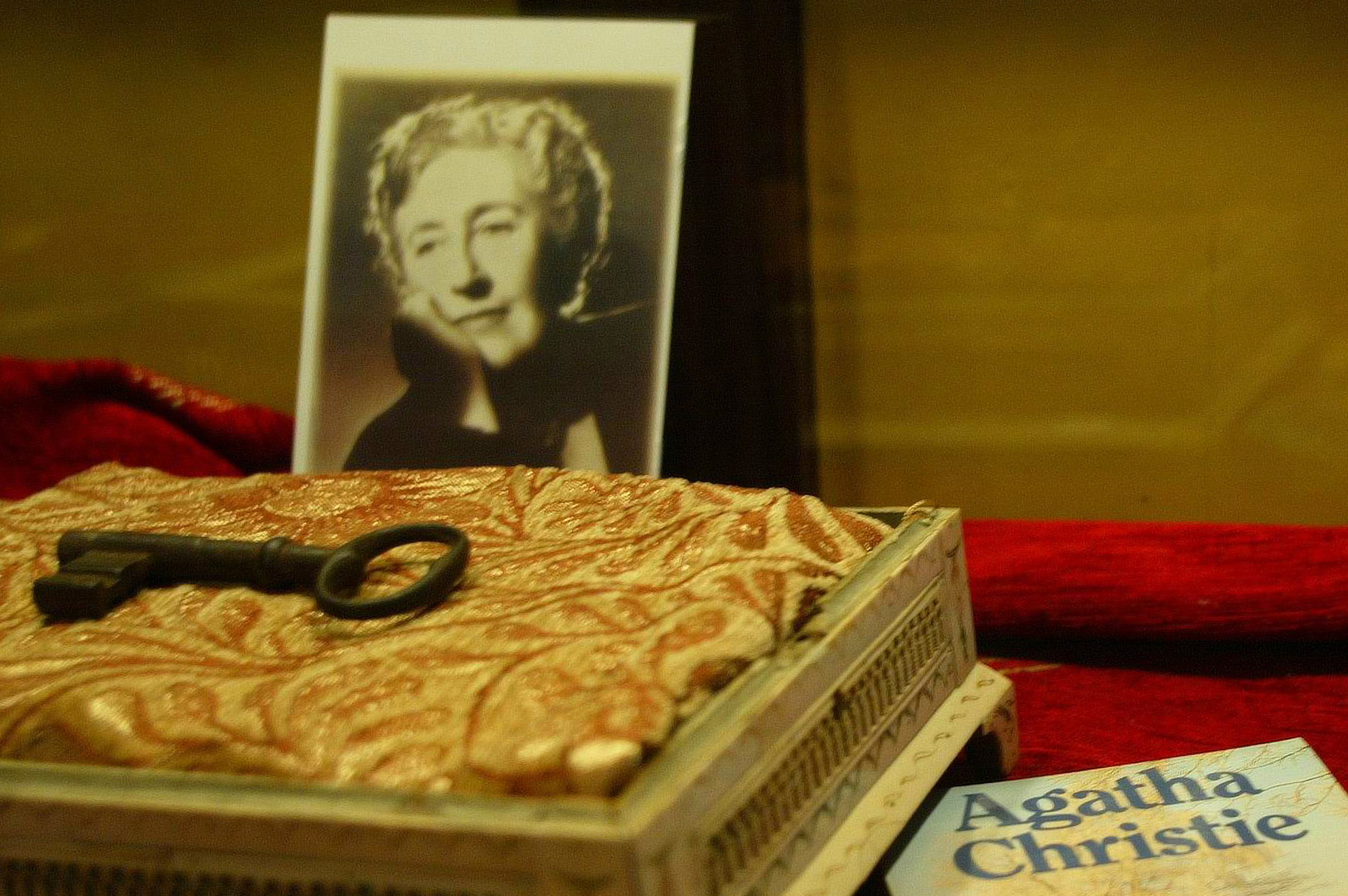 British writer Agatha Christie's belongings are displayed in a special exhibition in Istanbul