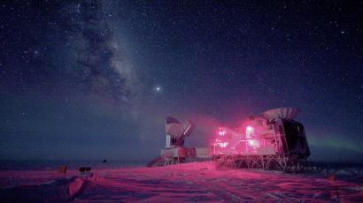The 10-m South Pole Telescope and the BICEP Telescope at Amundsen-Scott South Pole Station