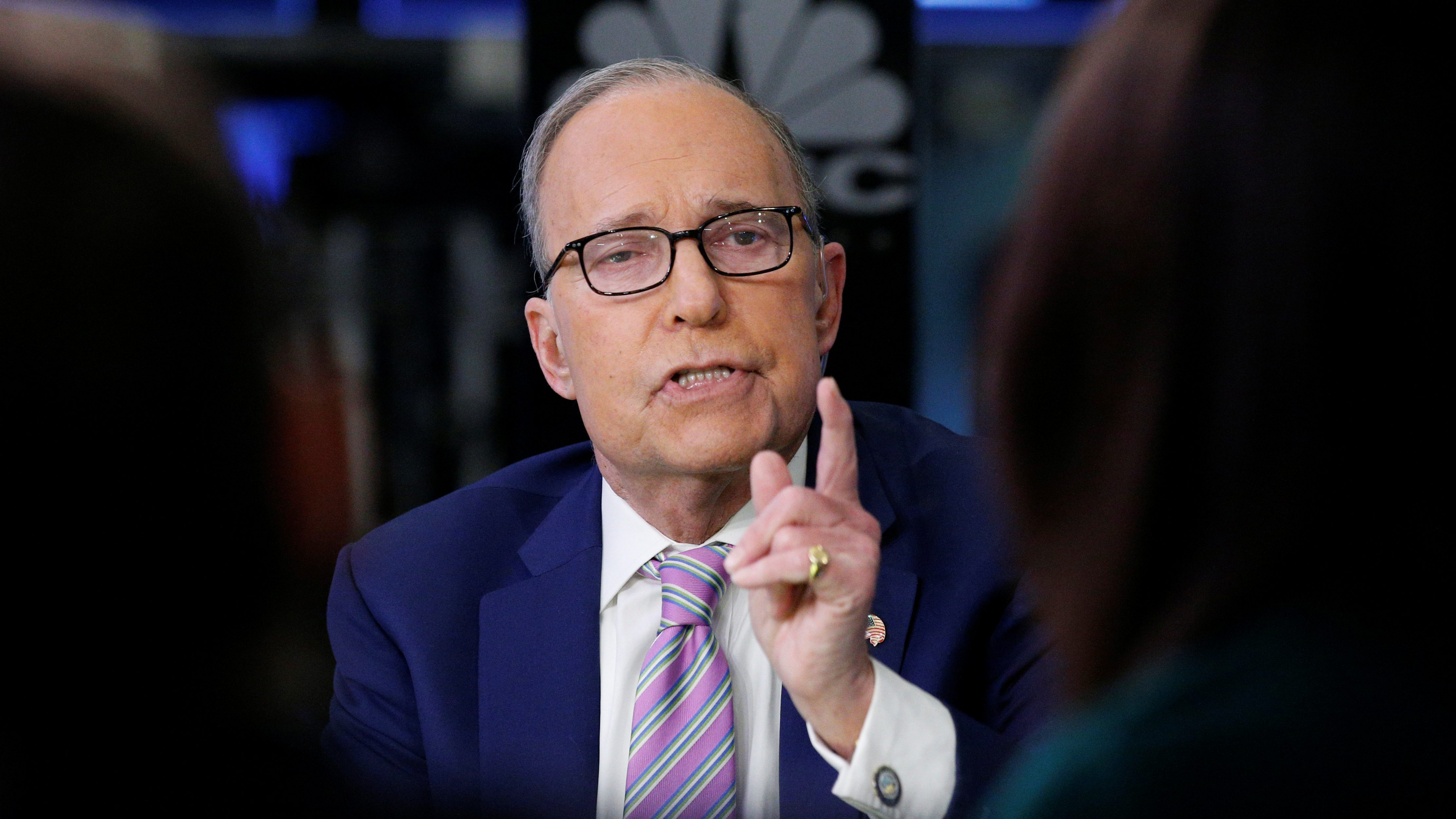 """Economic analyst Lawrence """"Larry"""" Kudlow appears on CNBC at the NYSE in New York"""
