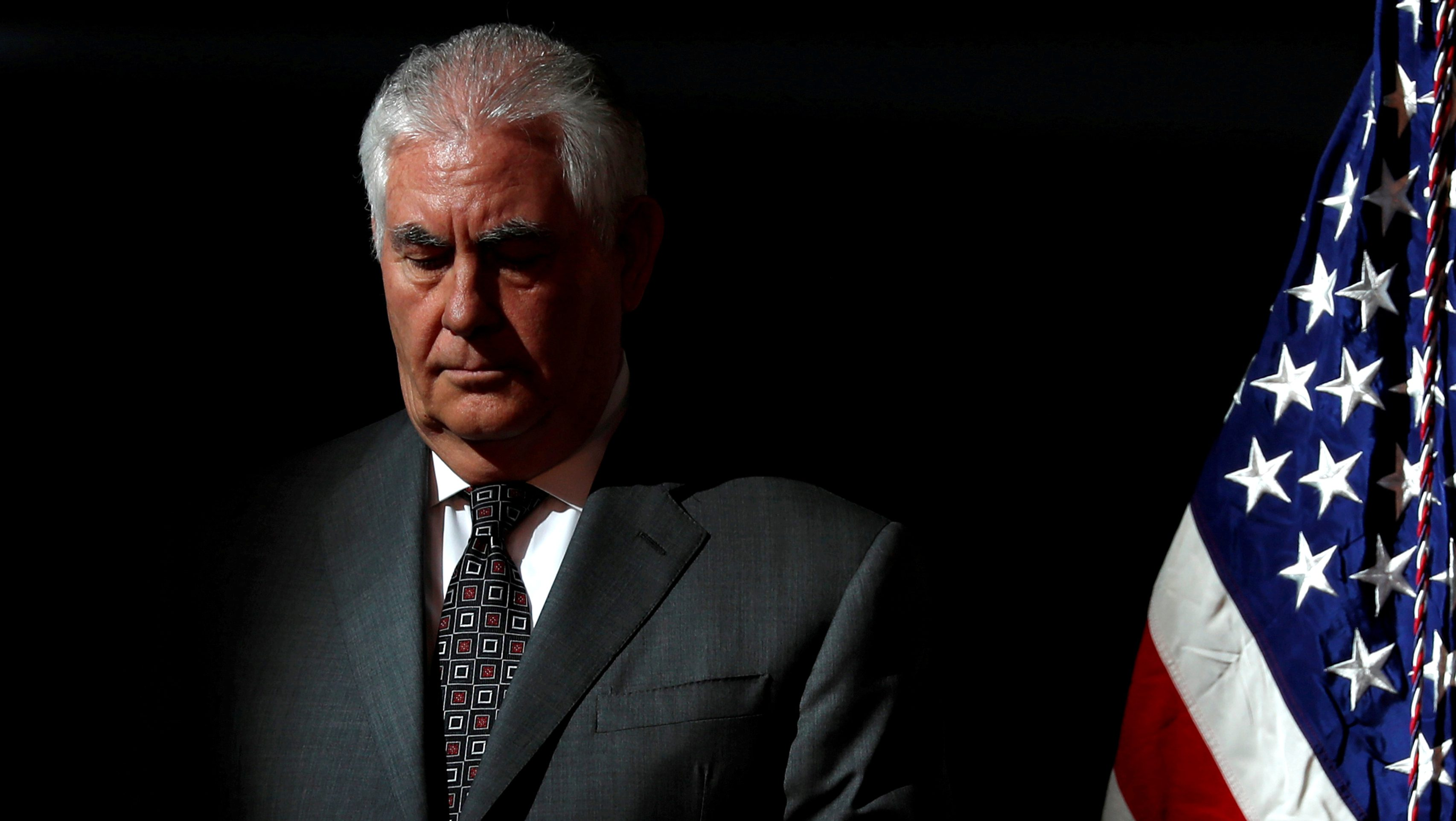 FILE PHOTO: U.S. Secretary of State Rex Tillerson participates in the first meeting of the U.S. National Space Council at the National Air and Space Museum's Udvar-Hazy Center in Chantilly, Virginia, U.S. October 5, 2017.