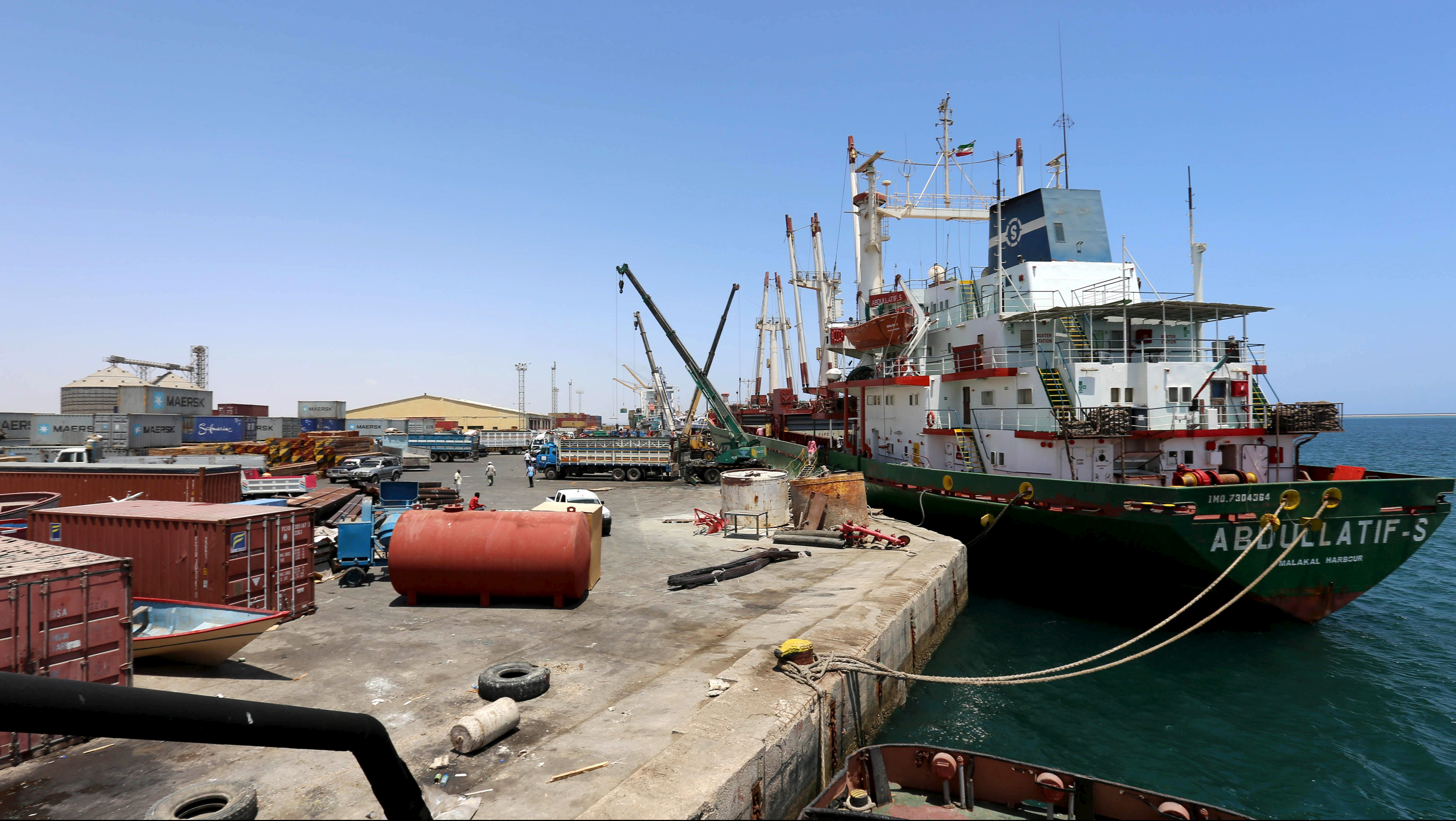 FILE PHOTO: A ship is docked at the Berbera port