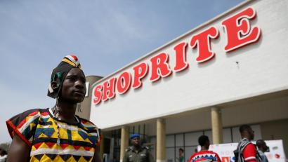 A man looks on at the newly commissioned Shoprite store at Novare Gateway mall Abuja, Nigeria November 30, 2017.