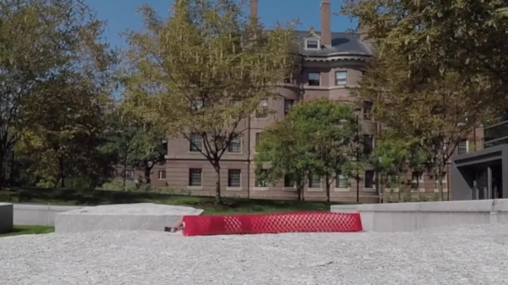 Harvard's snake-skinned robot touring the campus