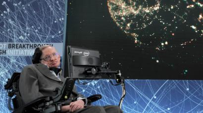 Prof. Stephen Hawking and Breakthrough Prize founder announce new space exploration initiative - Prof. Stephen Hawking and Breakthrough Prize and DST Global Founder Yuri Milner announce new 'Breakthrough Starshot' space exploration initiative. (NYC)
