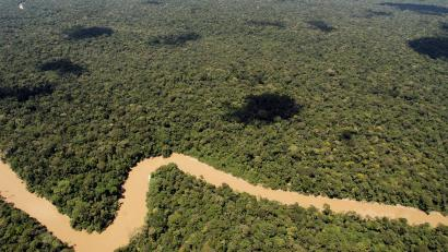 A photograph made available on 04 October 2013 shows the river Tiputini as it passes by the northern border of Yasuni National Park in Ecuador, 16 May 2007. The Ecuadoran Congress approved on 03 October 2013 new drilling for oil development and accompanying roads in the remote northeast section of Yasuni National Park, a 900,000 hectare Amazon forest which is considered one of the most biodiverse areas in the world. EPA/CECILIA PUEBLA