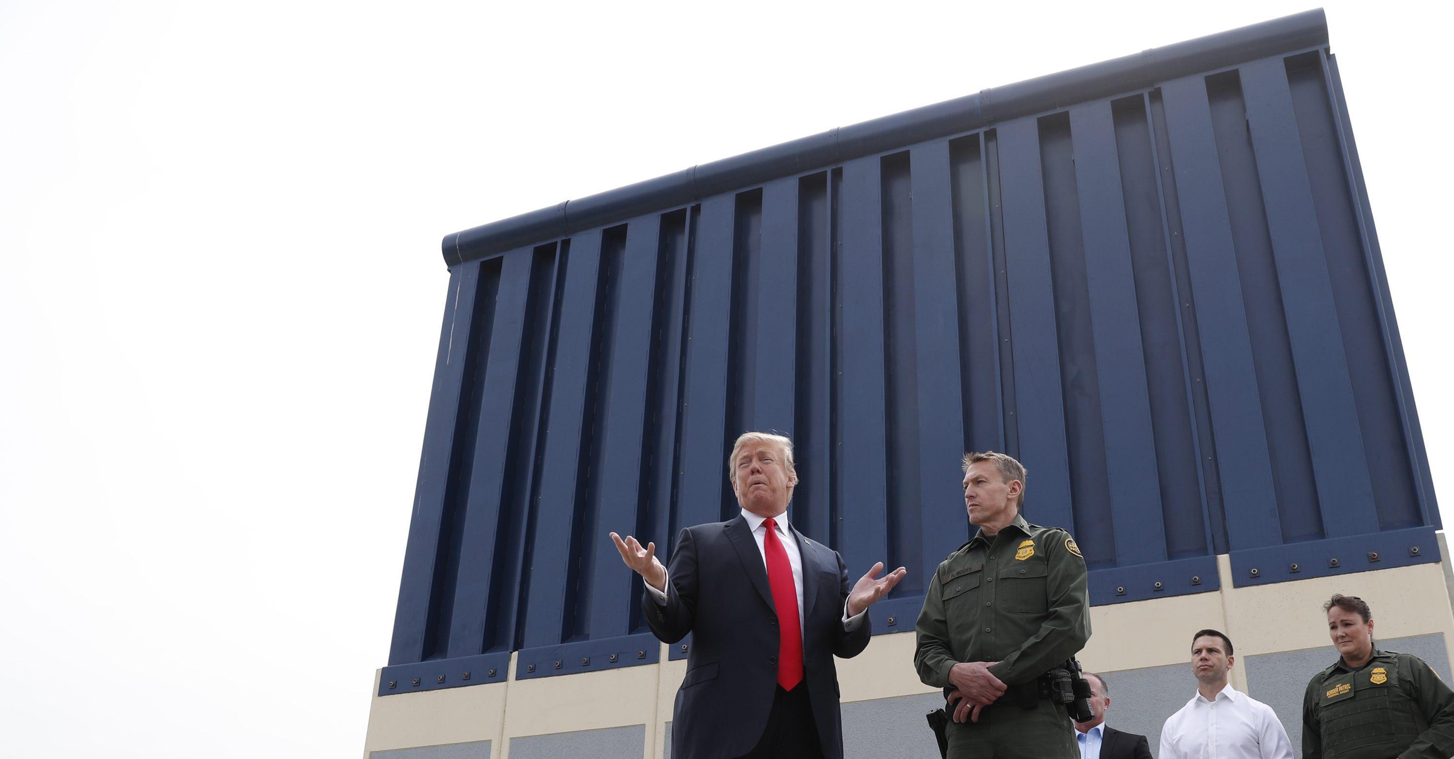 U.S. President Donald Trump visits border wall prototypes