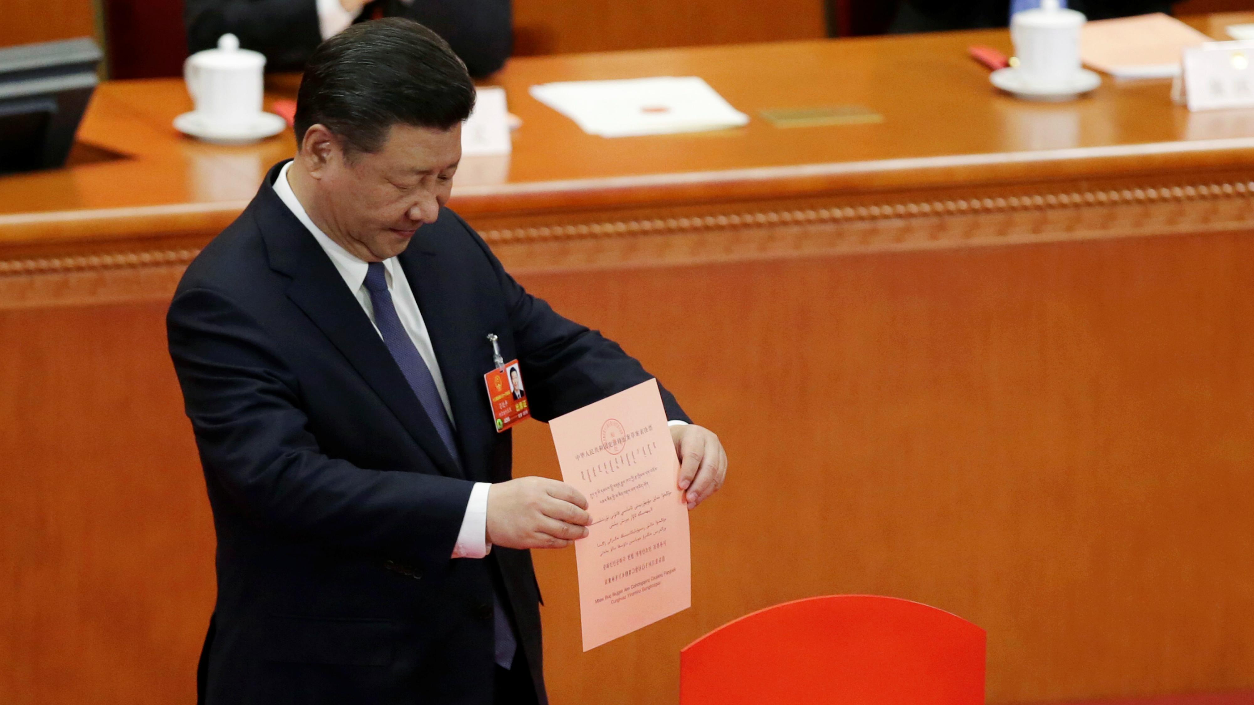 Xi Jinping voting