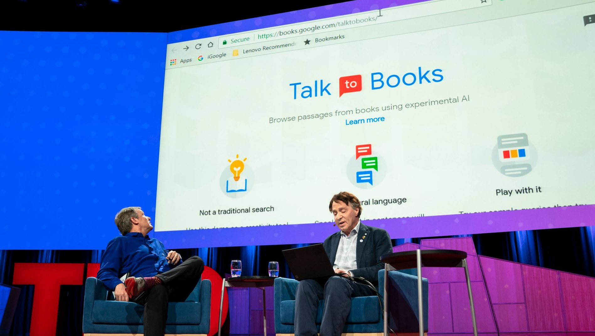 Will AI usher in the singularity? Chris Anderson interviewing Ray Kurzweil TED2018 - The Age of Amazement, April 10 - 14, 2018, Vancouver, BC, Canada. Photo: Bret Hartman / TED