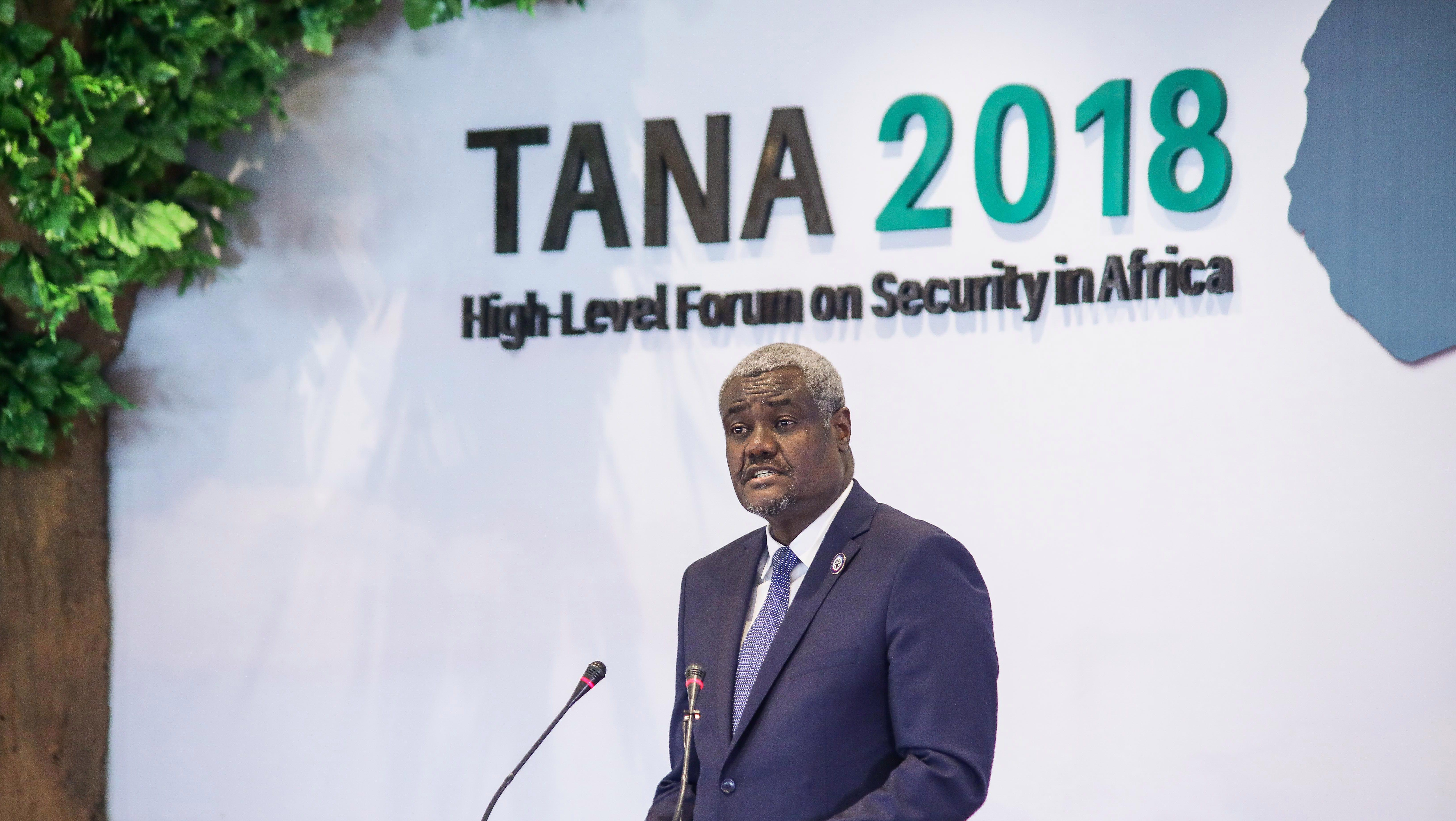 African Union chairman Moussa Faki