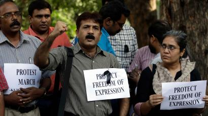 India Journalist Protest