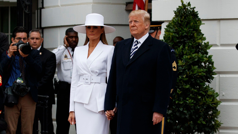 Donald Trump, Melania Trump, Emmanuel Macron, Brigitte Macron