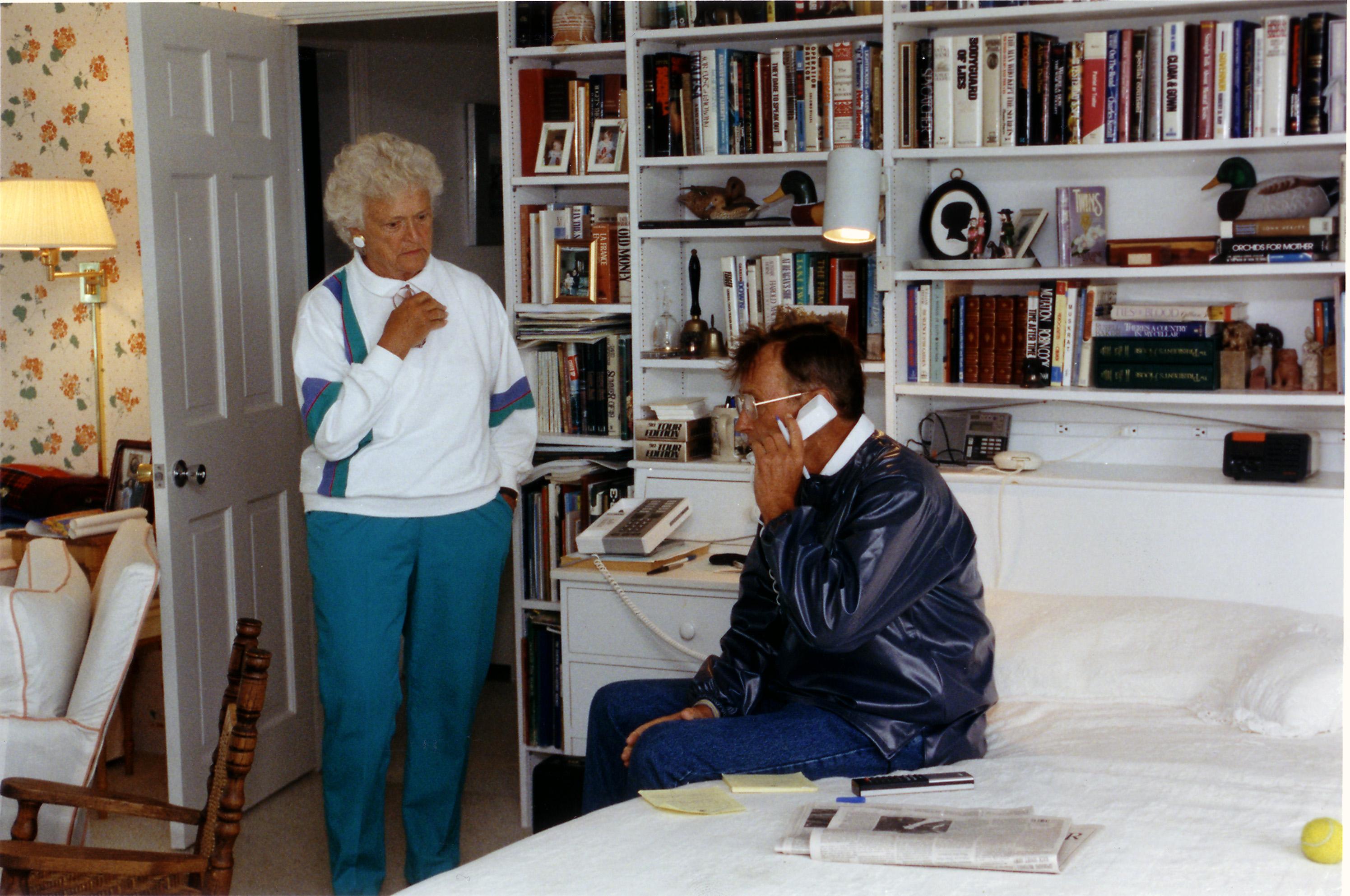 Barbara Bush with president George H.W. Bush