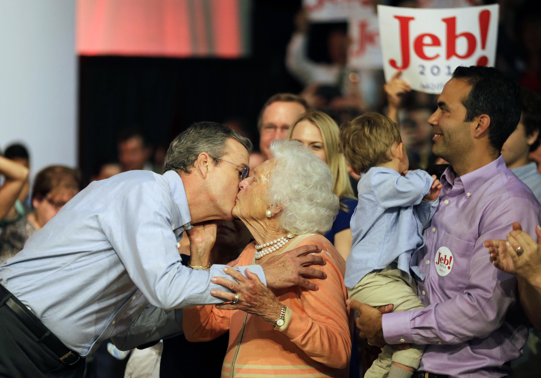 Jeb Bush, Barbara Bush, George Bush