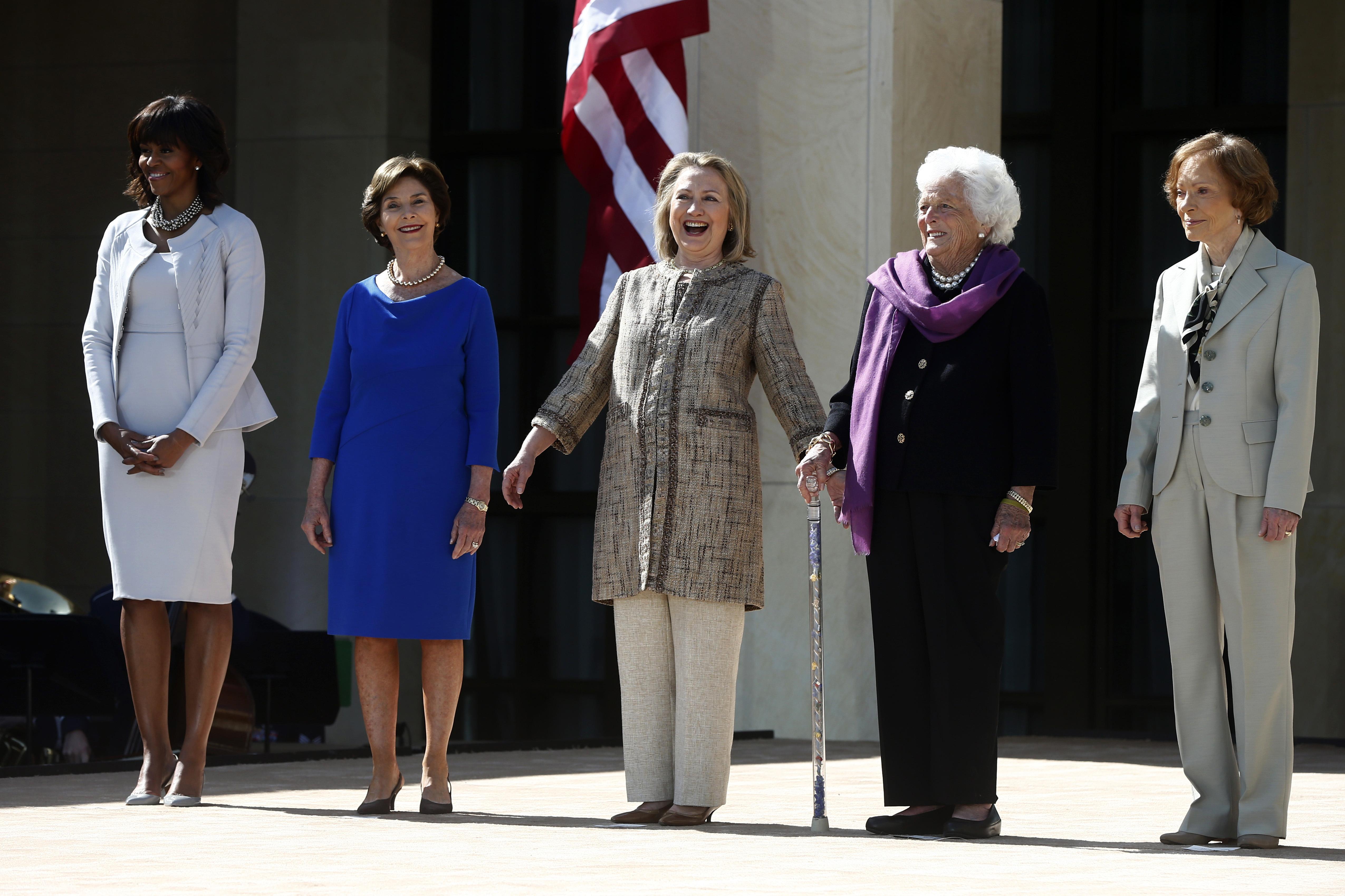 ormer first ladies: Laura Bush; Hillary Rodham Clinton; Barbara Bush; and Rosalynn Carter
