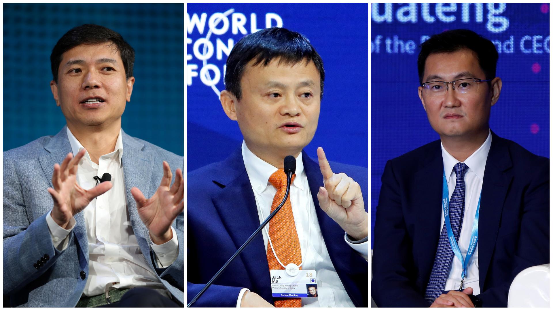 Baidu Robin Li, Alibaba Jack Ma, Tencent Pony Ma