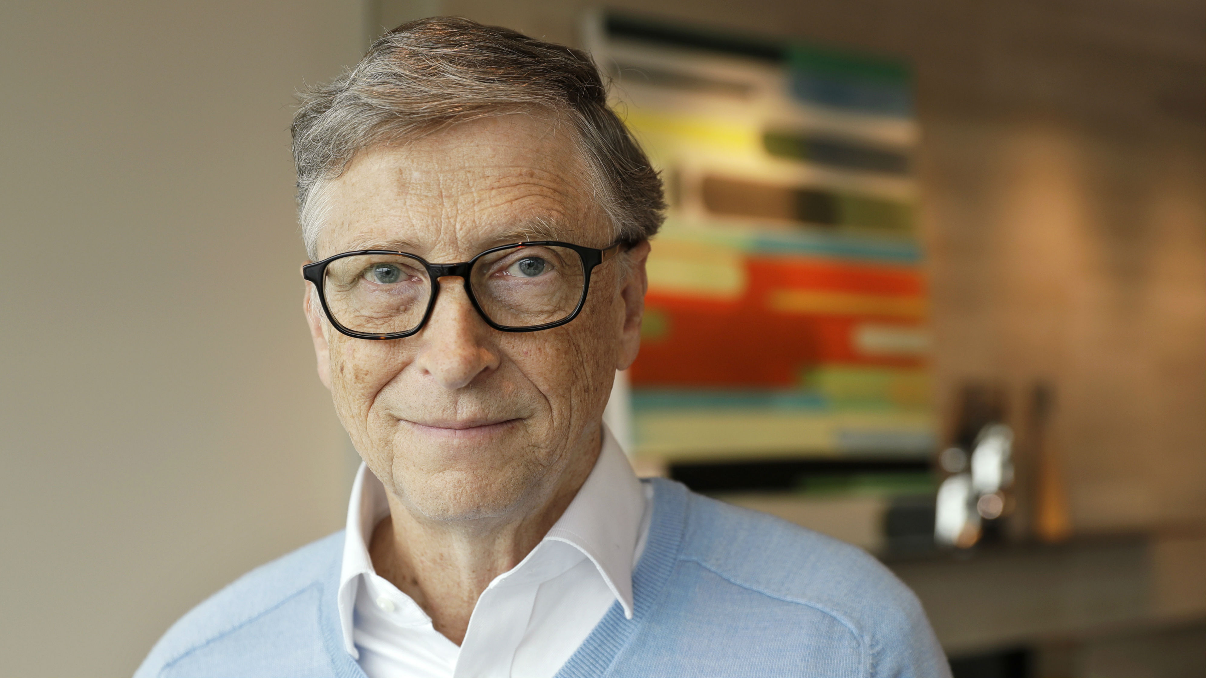 In this Feb. 1, 2018 photo, Microsoft co-founder Bill Gates, with his wife Melinda, poses for a photo before an interview with The Associated Press in Kirkland, Wash. The Gateses, as the world's top philanthropists, are rethinking their work in America as they confront what they consider their unsatisfactory track record on schools, the country's growing inequity and a president they disagree with more than any other.