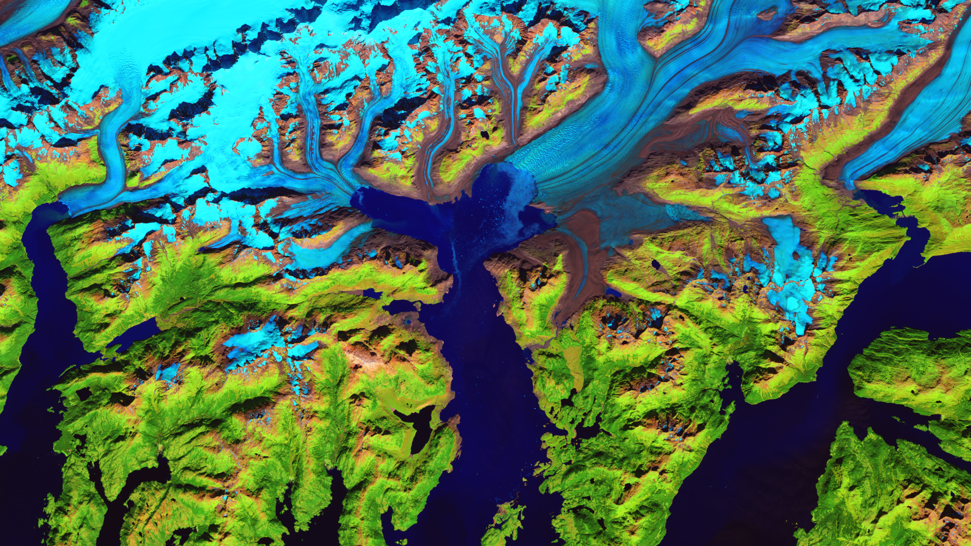 The Columbia Glacier in Alaska has retreated 12 miles in 30 years. (Pictured here in September 2016)