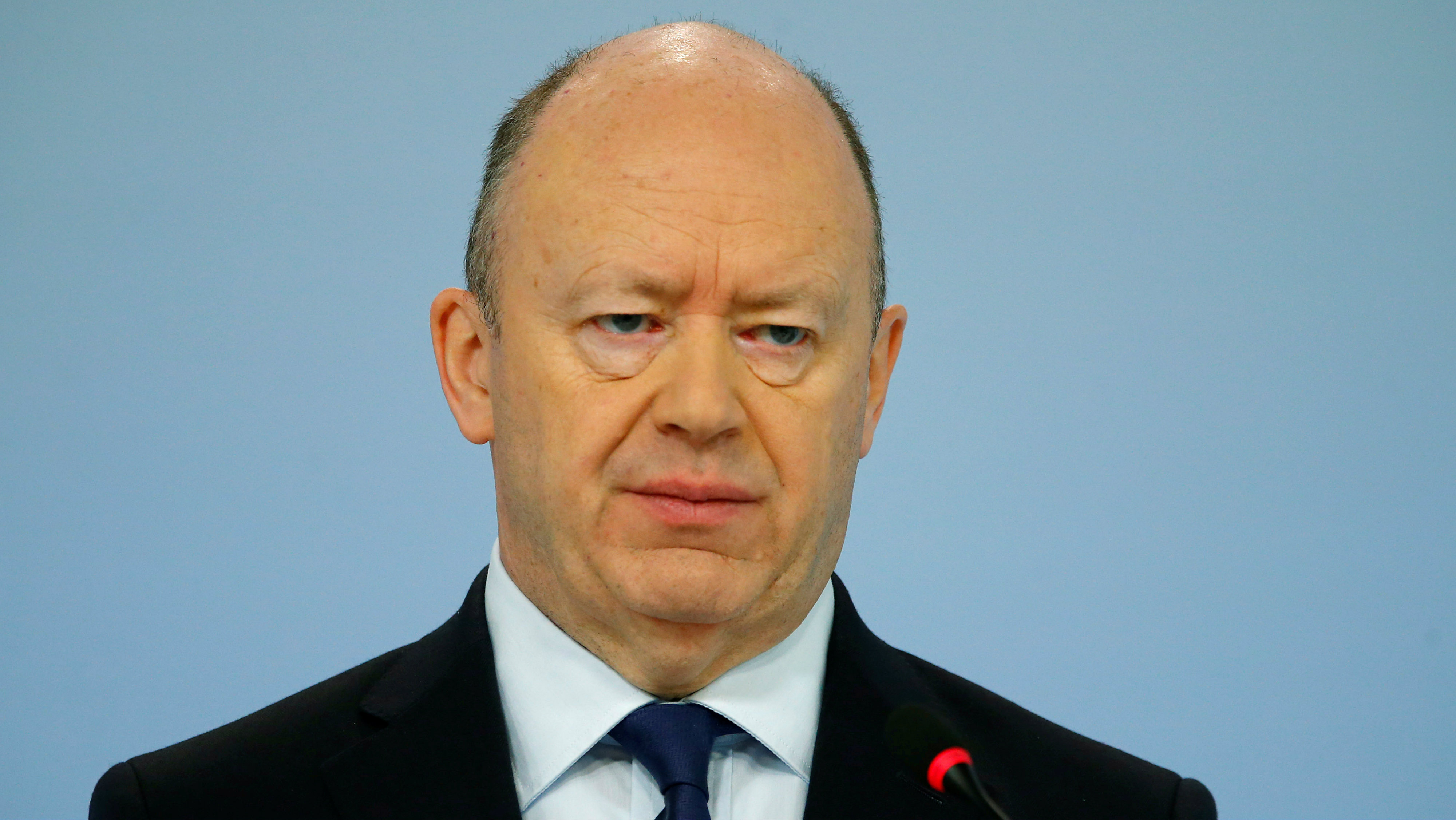 John Cryan, CEO of Germany's Deutsche Bank is pictured in Frankfurt, Germany, February 2, 2018.