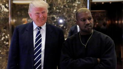 US president Donald Trump and musician Kanye West