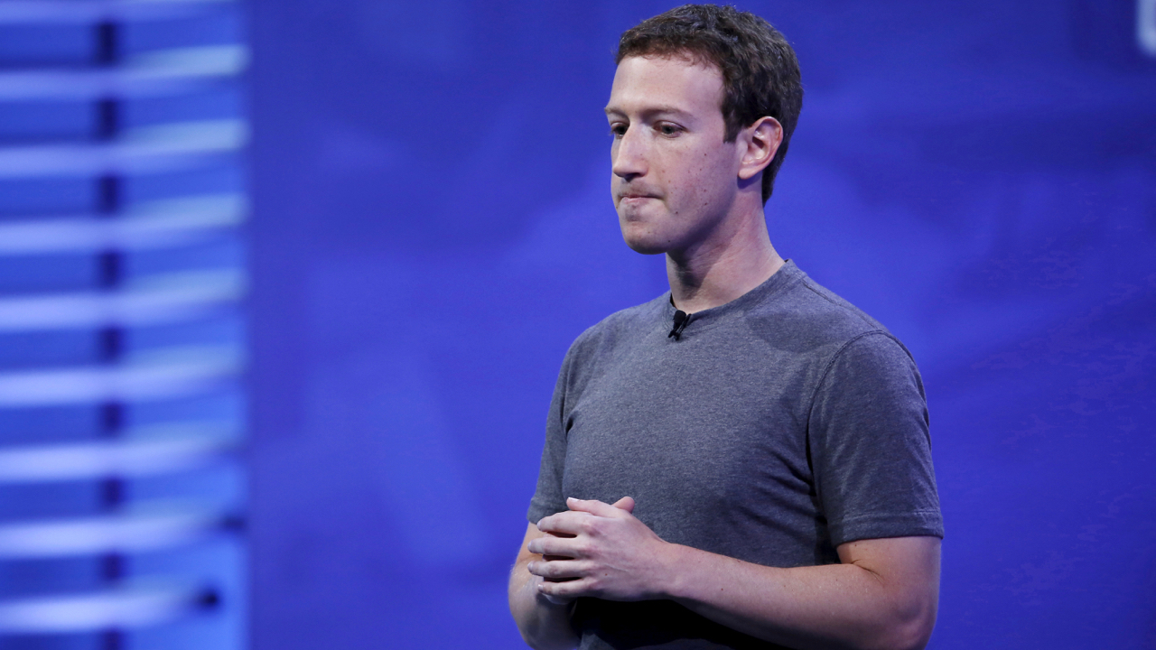 FILE PHOTO: Facebook CEO Mark Zuckerberg speaks on stage during the Facebook F8 conference in San Francisco, California, U.S., April 12, 2016. REUTERS/Stephen Lam/File Photo - RC1FA14DBC10