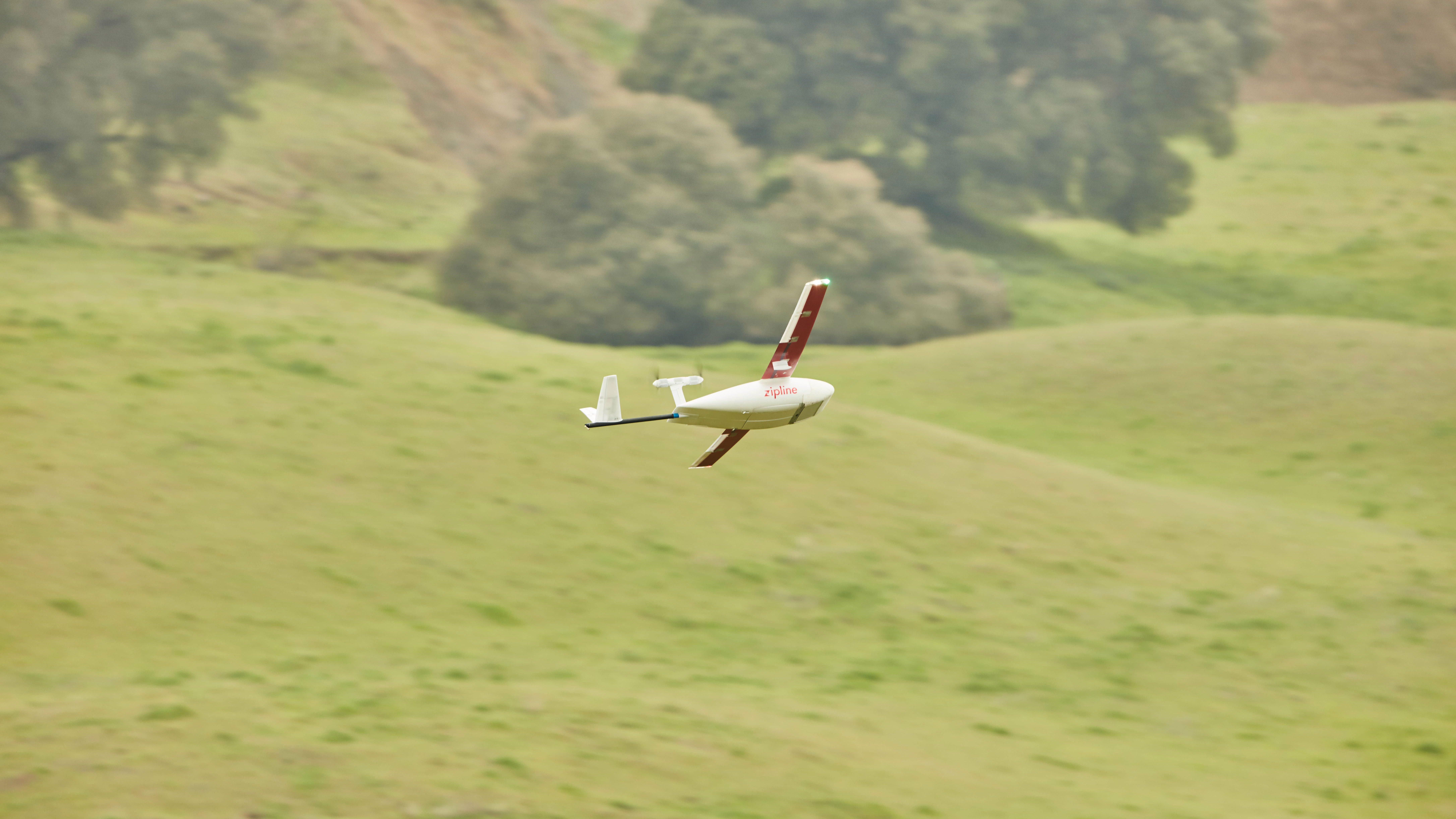 Zipeline's fastest drone yet.