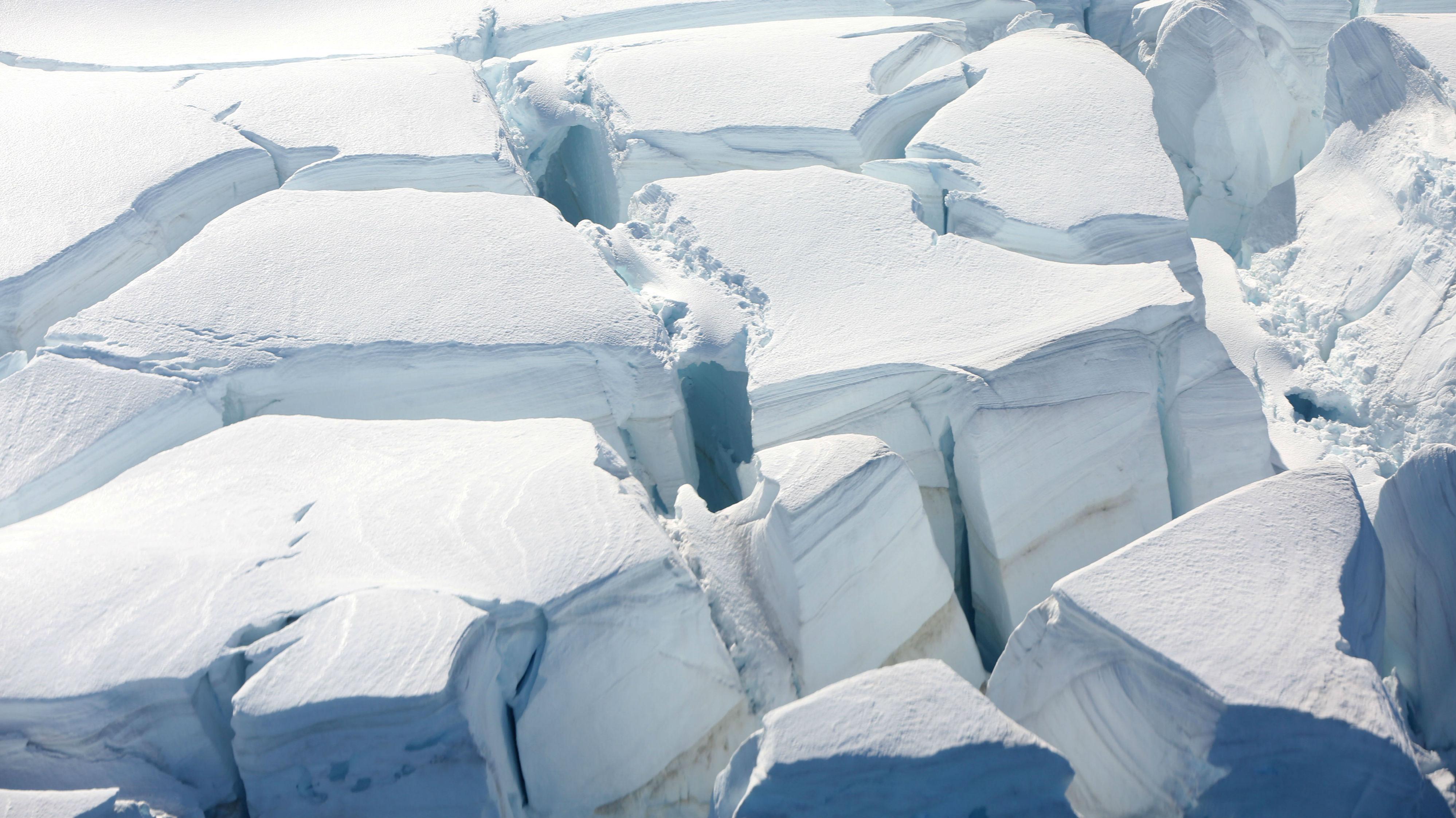 A glacier is seen in Half Moon Bay, Antarctica, February 18, 2018.