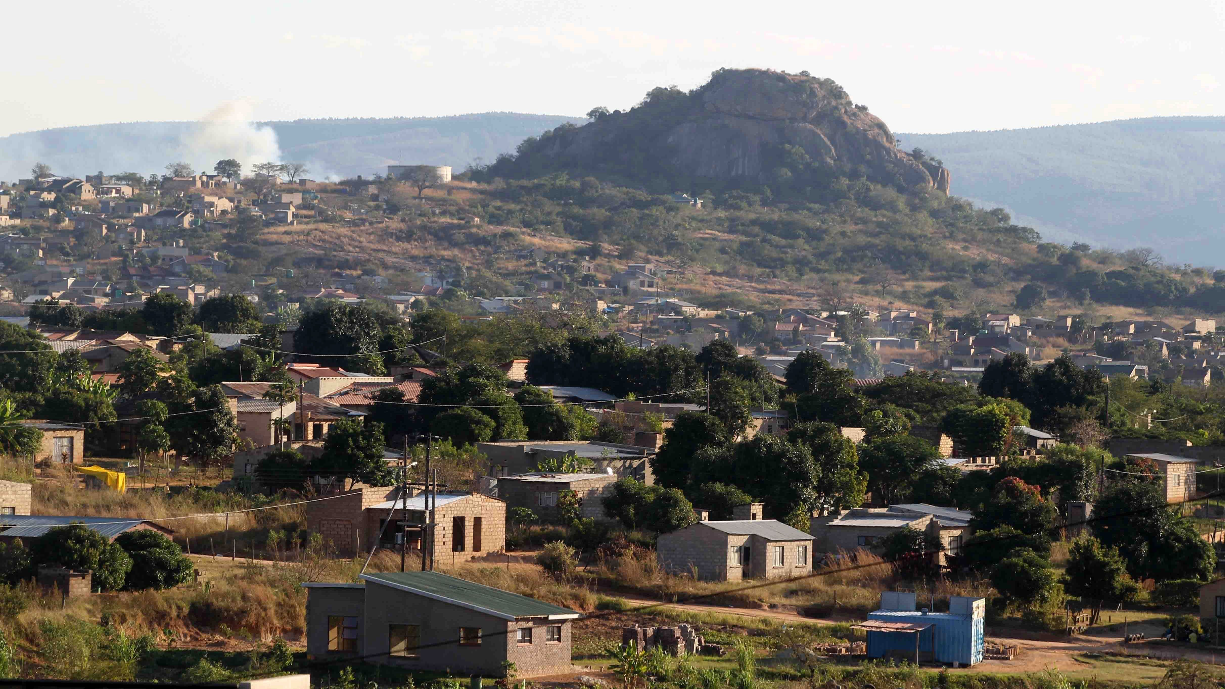 General view of one of the many townships of the Mpumalanga Province, South Africa.