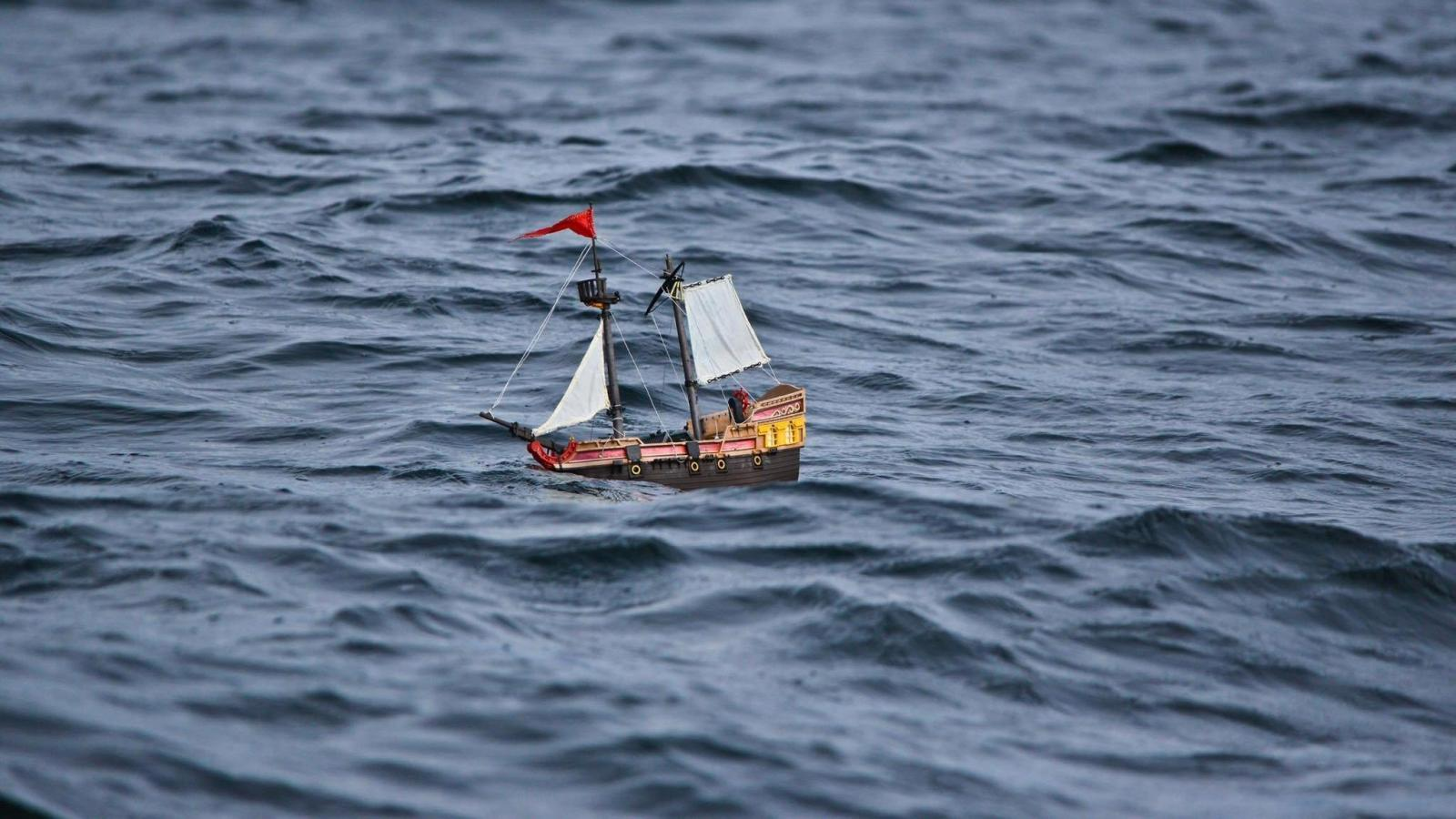 A Playmobil Pirate Ship Is Sailing Around The World Thanks To Two