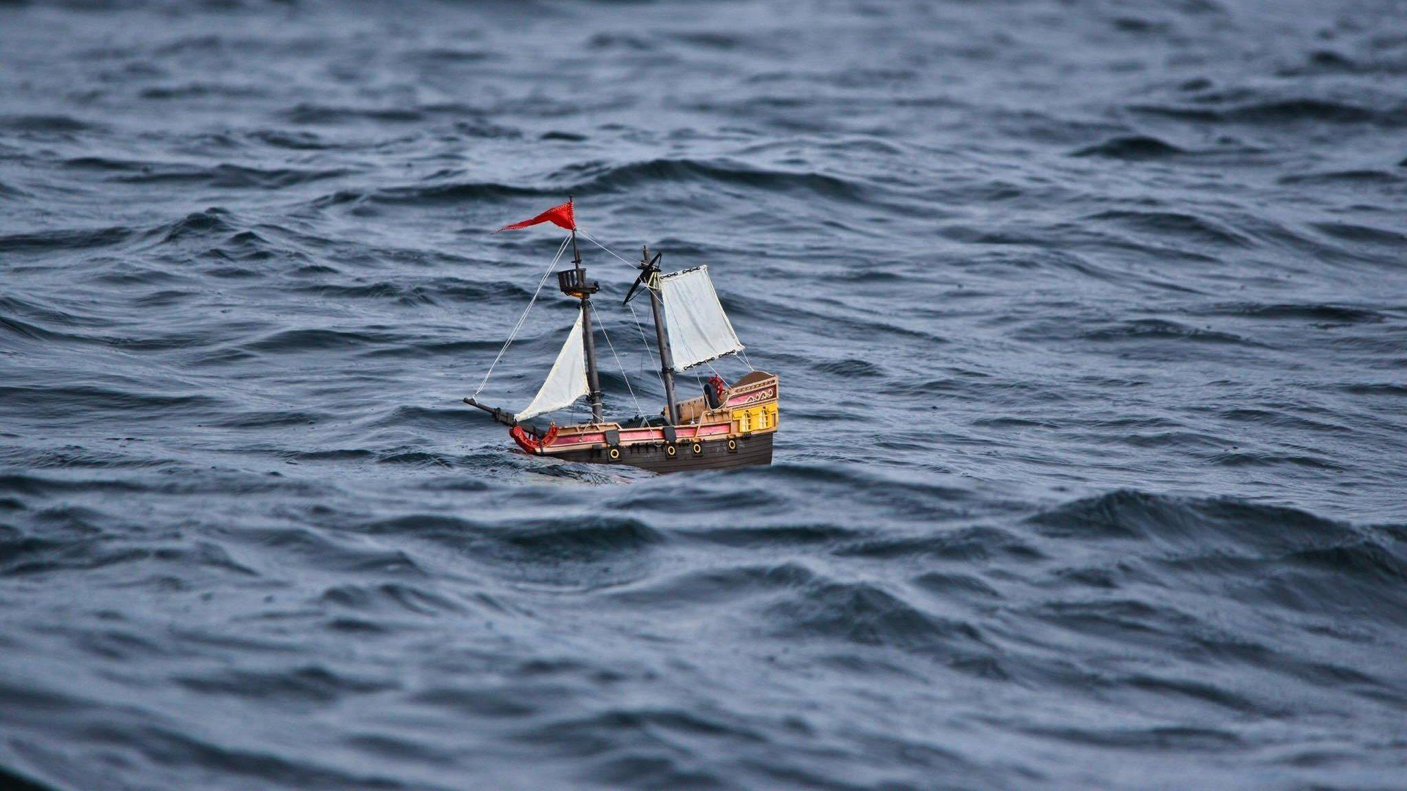 HMS Adventure sailing the Atlantic Ocean