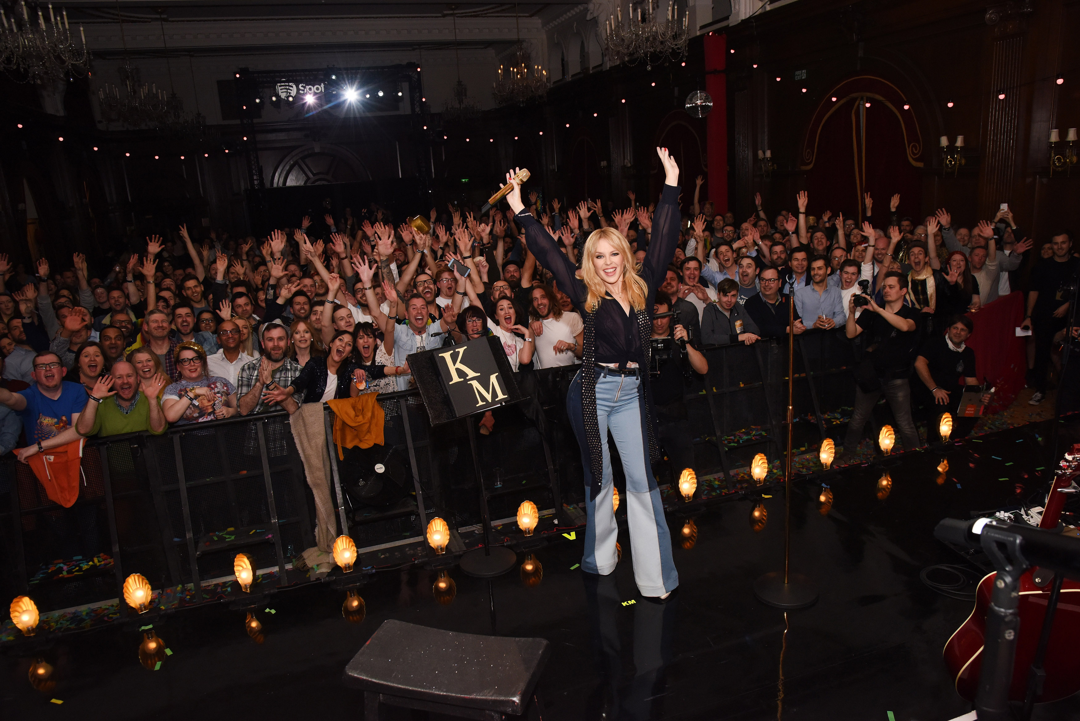 Kylie Minogue Performs To Her Spotify Premium Fans At London's Porchester Hall