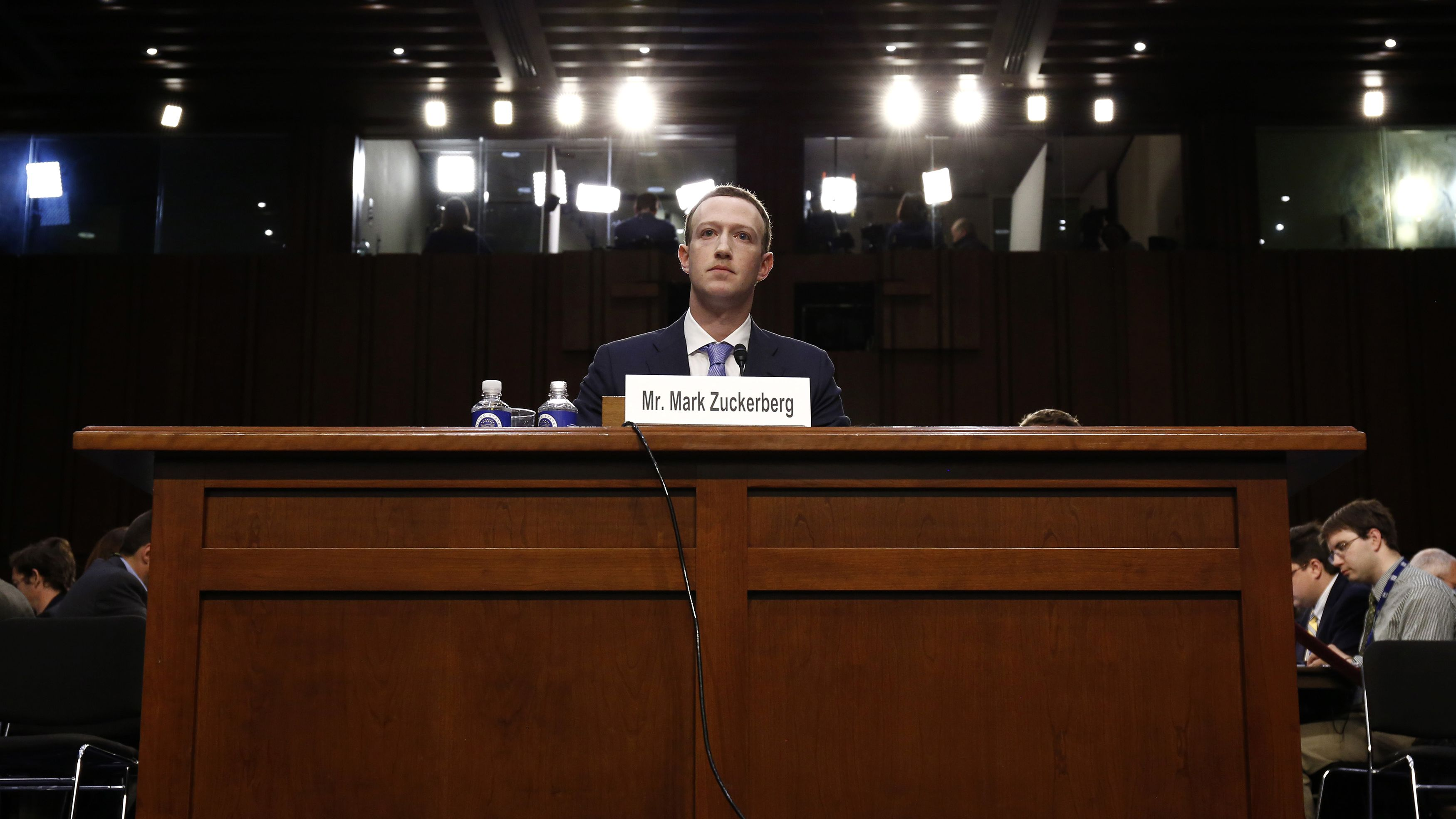 Facebook CEO Zuckerberg is testifying before the US Senate.