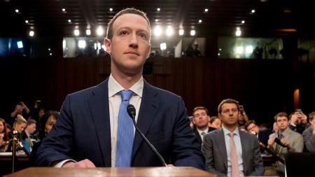Facebook CEO Mark Zuckerberg testified at a joint hearing of the Senate Commerce and Judiciary committees in Washington.