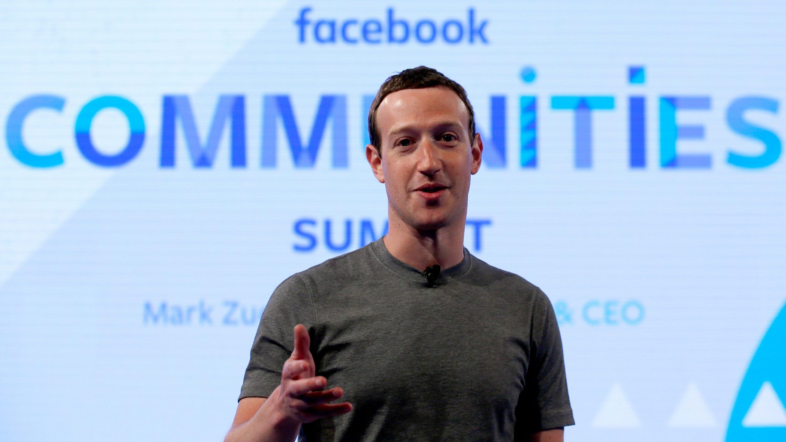 """FILE - In this Wednesday, June 21, 2017, file photo, Facebook CEO Mark Zuckerberg speaks as he prepares for the Facebook Communities Summit in Chicago. Facebook is once again tweaking the formula it uses to decide what people see in their news feed to focus more on personal connections and take the spotlight off brands and news articles. Facebook says it will highlight posts people are most likely to engage with and make time spent on social media more """"meaningful."""""""