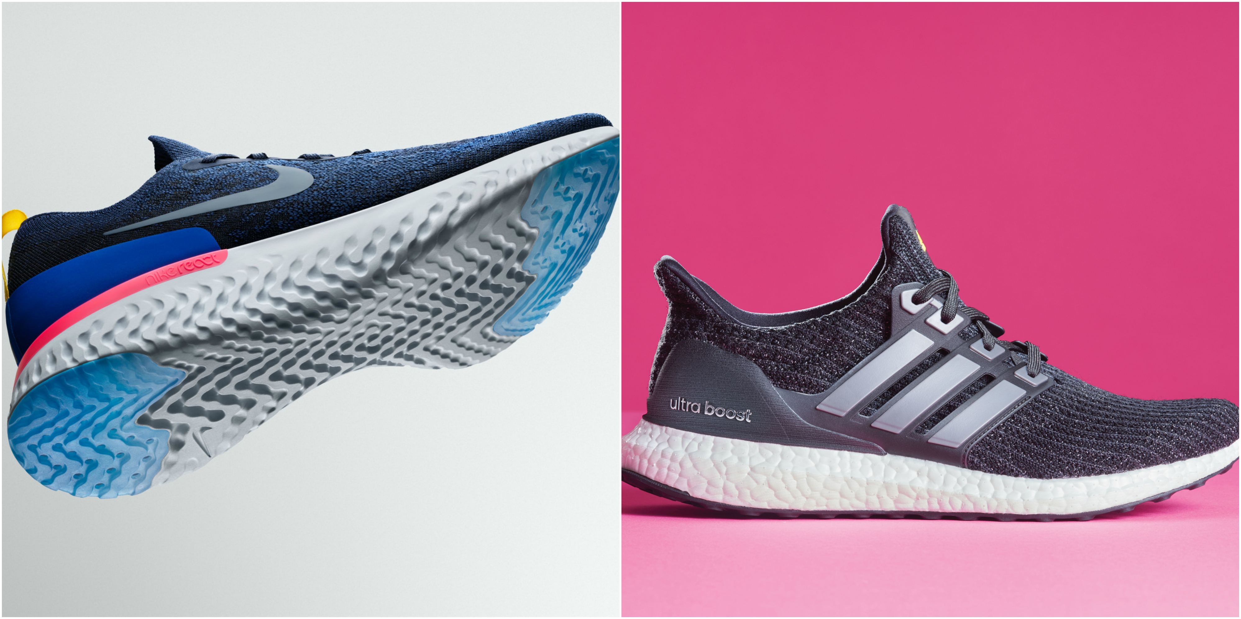 Nike Epic React v. Adidas Ultraboost: which is better, according to a  12-point checklist — Quartzy
